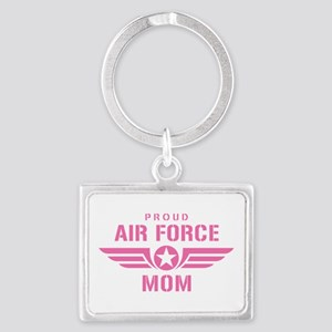 Proud Air Force Mom W [pink] Landscape Keychain